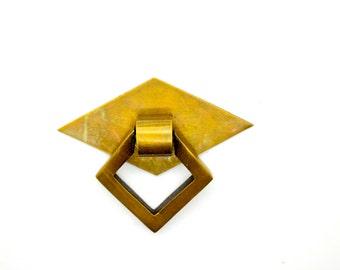 brass drawer pull. cupboard  knobs handles . Antique brass decor .English art deco.  cupboard pull handle. kitchen hardware