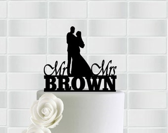 Wedding Cake Topper,Personalized Wedding Cake Topper,Wedding Vintage Cake Toppers,Unique Cake Toppers ,Mr And Mrs Cake Topper
