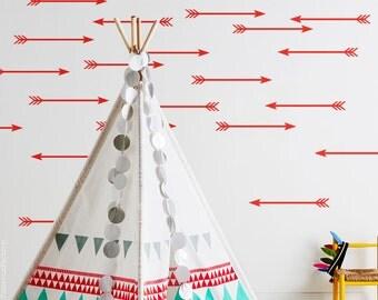 Arrow Wall Decal / Arrow Wall Sticker / 35 Arrow Decal / Kids wall decoration / Home Decor / gift