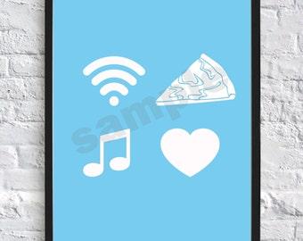 Youtube, Tumblr, Internet, Wall Art, Print, Digital Download