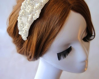 Wedding Hair Accessory, Rhinestone Headband, Bridal Headpiece, Metal headband, Bridal, Wedding, Bridesmaid, HELEN