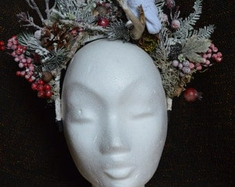 """Hair jewelry """"Snow Forest"""""""