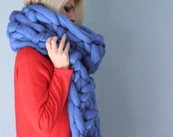 Merino Wool Scarf, Knit Scarf, Chunky Scarf, Oversized Scarf, Wool Scarf, Knitted Scarf, Winter Scarf, Women Scarf, Chunky Knits, Scarf