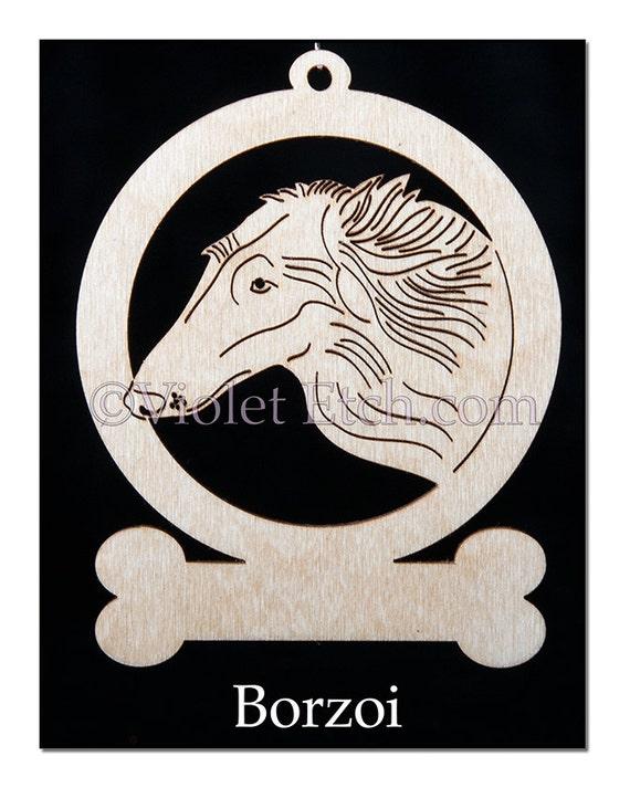 Borzoi Ornament-Borzio Gift-Free Personalization