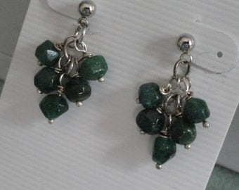 Green Aventurine Earrings  -   #293