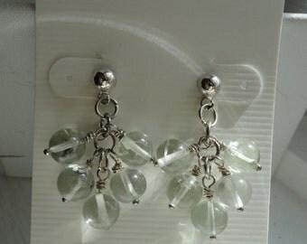 Green Amethyst Earrings  -   #330