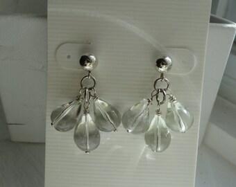 Green Amethyst Earrings  -  #333