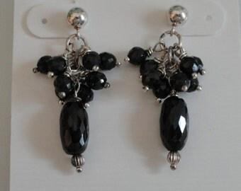 Black Spinel Earrings   -   #409