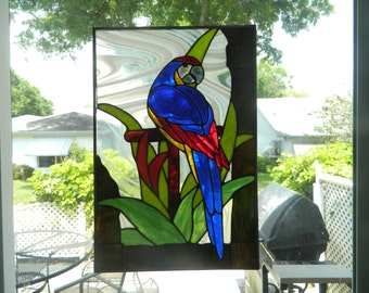 Beveled Glass Macaw