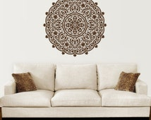 Mandala Wall Decal Yoga Studio Vinyl Sticker Decals Ornament Moroccan Pattern Namaste Lotus Flower Home Decor Boho Bohemian Bedroom ZX103