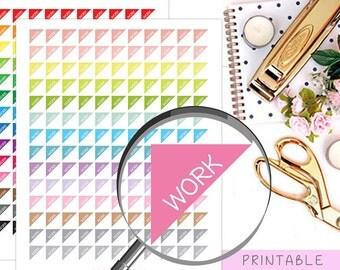 Work Printable Planner Stickers, Work Schedule Stickers, Rainbow Stickers,  Erin Condren Planner Stickers, Work Instant Download Stickers
