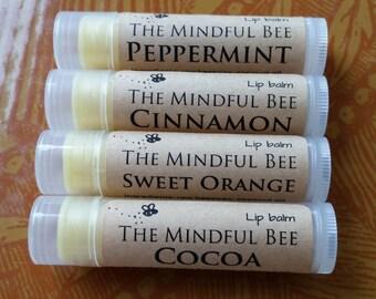 Organic Lip Balm, Beeswax Lip Balm, Chapstick, Lip Gloss, Natural Lip Balm, Lip Butter, 0.15 oz.