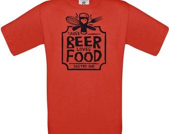 Cause beer loves food ,craft beer shirt, man shirt, beer gift