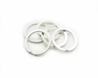 30mm Split Rings, Silver Color Key Rings, Split Rings, Metal Round Key Rings, 5 pcs Split Rings, Silver Color Split Rings, Craft Supplies