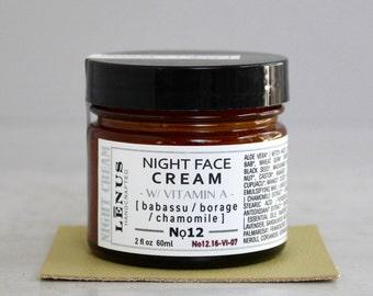NIGHT FACE CREAM, Nọ 12, Natural Retinol Face Cream, Nourishing Night Cream, Night Face Cream, Organic Skincare, Women Gifts