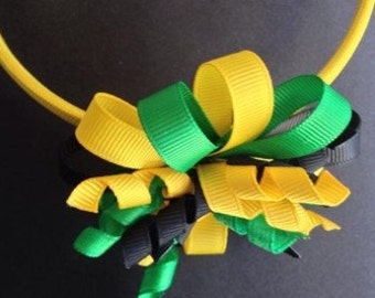 Black, Green and Gold hairbands