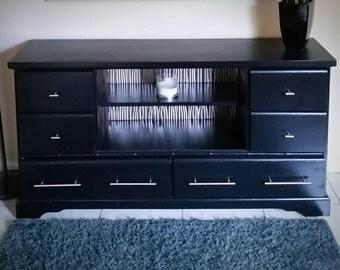 Black and metal modern dresser