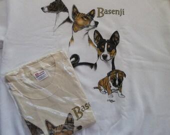 Basenji  Sweatshirt & T-shirt Set Size 2x ( 50 - 52 )