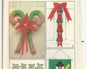 Sewing Pattern - Christmas Door Decorations Wreaths Hangings Home Decor Butterick 6720