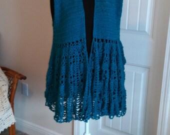 Handmade crocheted cardigan