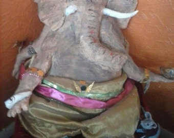Large Paper mache ganesh statue