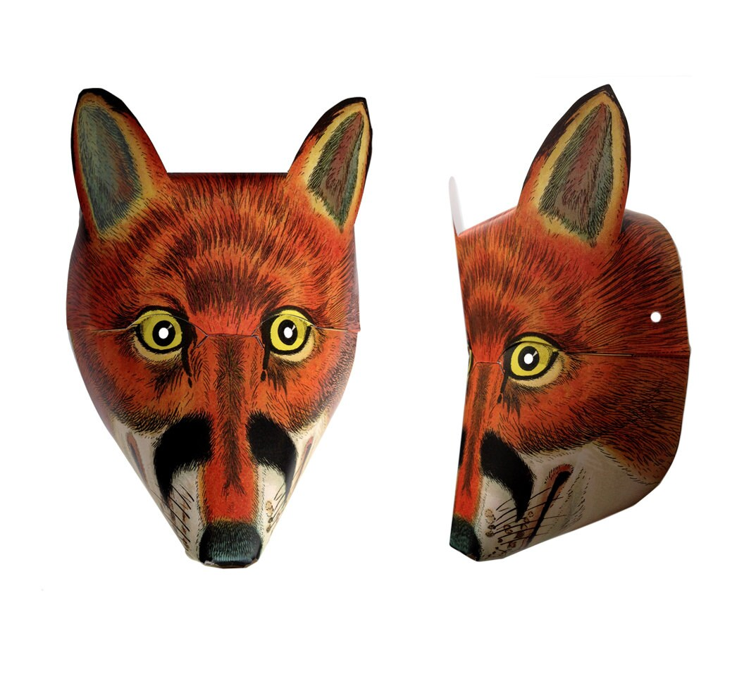 This is a graphic of Lucrative Printable Fox Mask