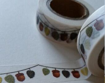 acorn bunting washi tape