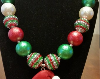 Santa Claus Chunky Necklace