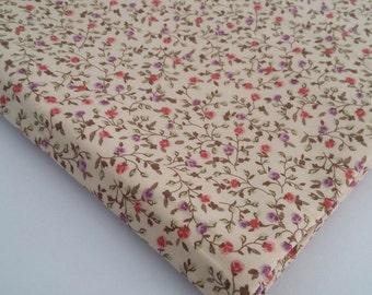 Purple and Pink Flowers Cotton Fabrics