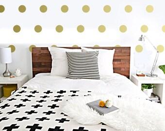 "3.5"" Polka Dot Wall Decals, wall confetti, nursery, bedroom dots, stickers, circles"