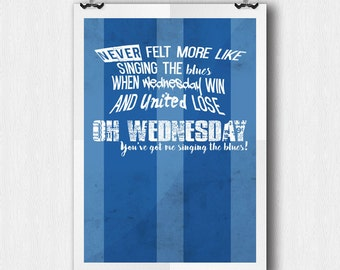Sheffield Wednesday - Chant - A4 Poster