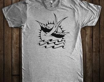 Pirate tattoo tshirt etsy for Blackwater tattoo studio