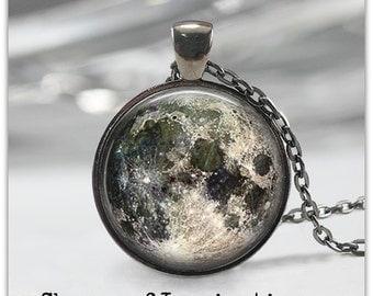 Full Moon Necklace,Moon Jewelry, Moon Phase Pendant, Full Moon Keychain, Moon Phase Gift