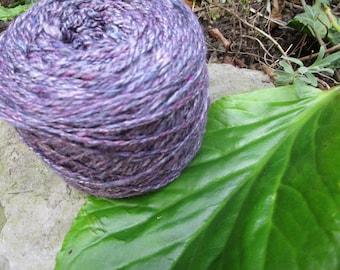Wool spun Merino/silk tussah Juniper hand