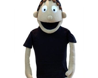 Customizable Boy Puppet #2 - Professional puppet (available in black light)