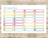 Meal Planner Strips Planner Stickers