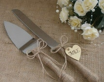 Wedding Cake Server Set and Knife Rustic Wedding Cake Serving Set Wedding Cake Server Rustic Outdoor Wedding Decoration