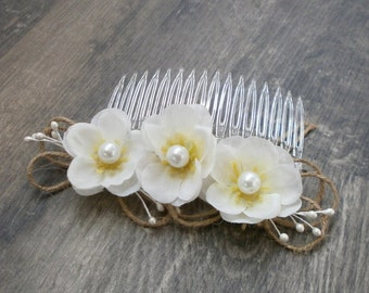 Flower Barrette Wedding Hair Accessories Bride Barrette Flowergirl Hair Accessory Hair Pin Flower Barrette Flowers with Pearl