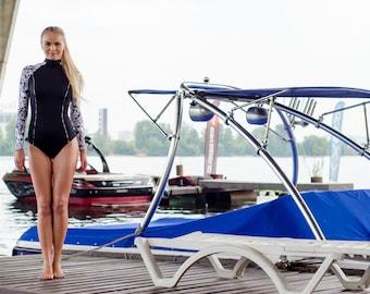 Black swimsuit, One piece swimsuit , swimwear