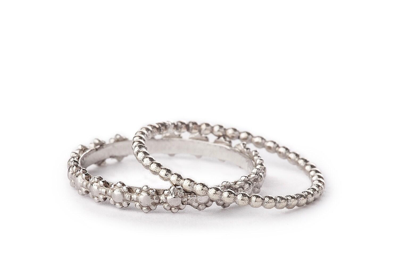 stackable wedding ring set women wedding band set solid 14k. Black Bedroom Furniture Sets. Home Design Ideas