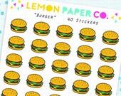 Burger // Planner Stickers