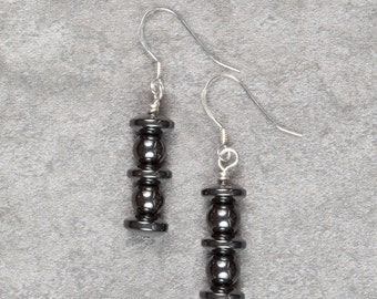 Hematite Drop Earrings (016)