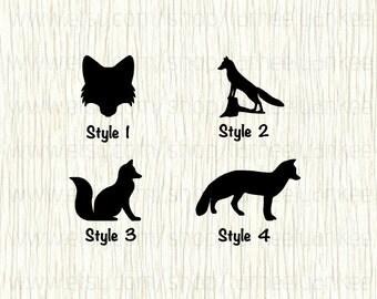 Fox Car Decal, Fox Decal, Woodland Creature Decal, Fox Hunting Decal, Hunting Decal, Fox Face Decal, Fox Head Decal,Fox Standing,Fox Sitting
