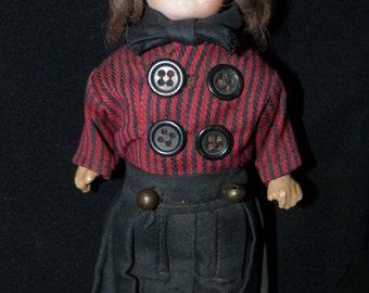 Antique German Porcelain Bisque Doll