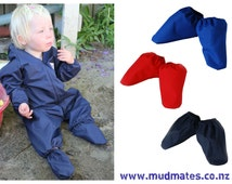 Protective water-resistant baby shoe covers / over booties / rain booties for babies and toddlers