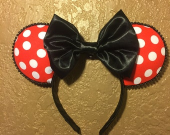 Minnie Mouse Inspired Polka Dot Mouse Ears
