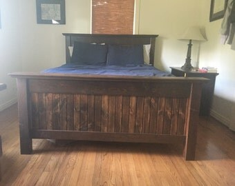 Custom Rustic Panel Bed Frame
