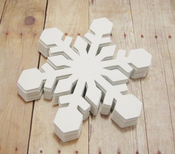 White Christmas Classroom Decorations ~ Snowflake cutouts large cardstock snowflakes winter