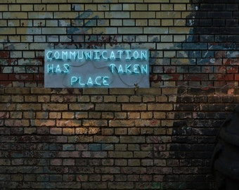 Communication - handmade neon sign