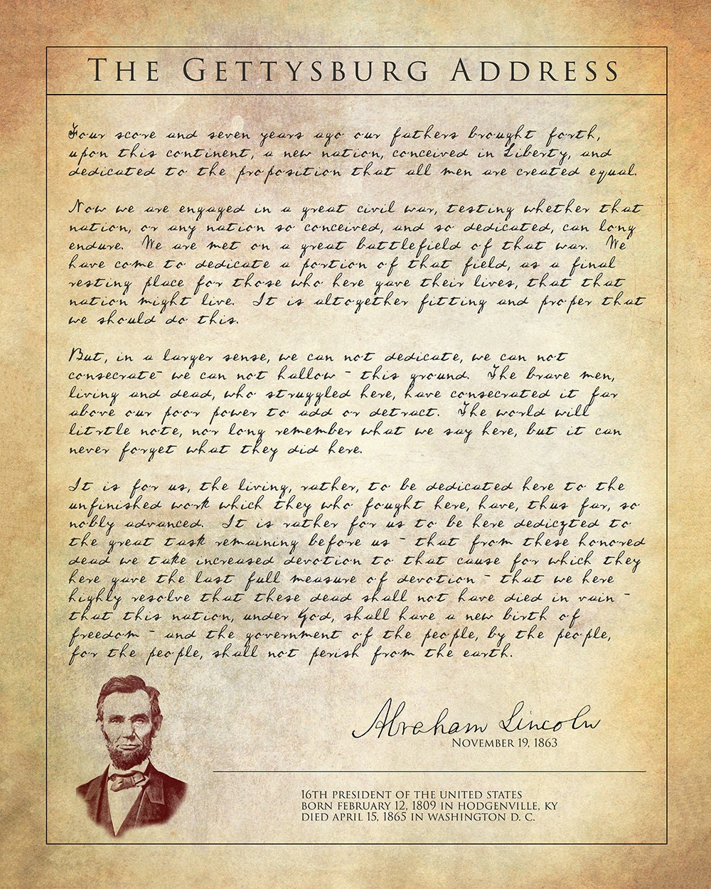 """a paper on abraham lincolns gettysburg address Abraham lincoln on the american union: """"a word fitly spoken""""  particularly the  dbq and essay part of the exam, by guiding them through an analysis of   gettysburg address, as they evaluate and judge lincoln's enduring speech in  light of."""